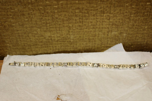 Zilveren armband met namen