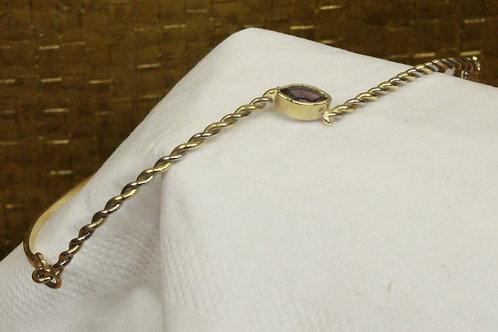 Geel gouden armband met amethist
