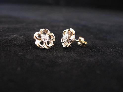 Geel en wit gouden oorknopjes