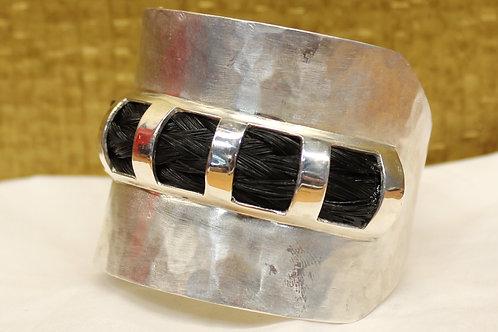 Zilveren armband met paardenhaar