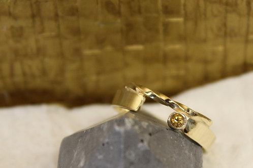 Geel gouden ring met citrien