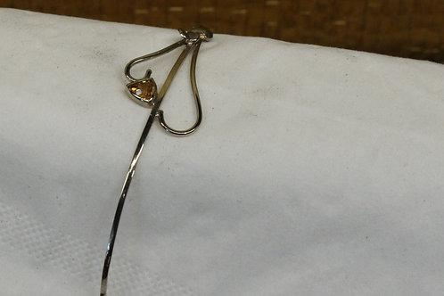 Wit gouden armband met citrien