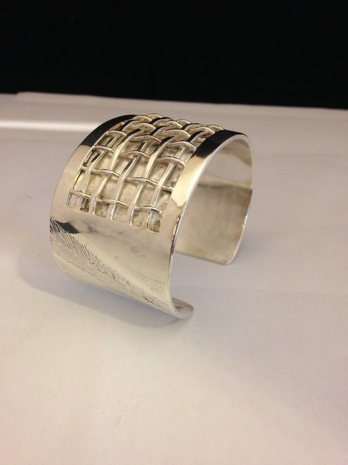 Zilveren armband met weefmotief