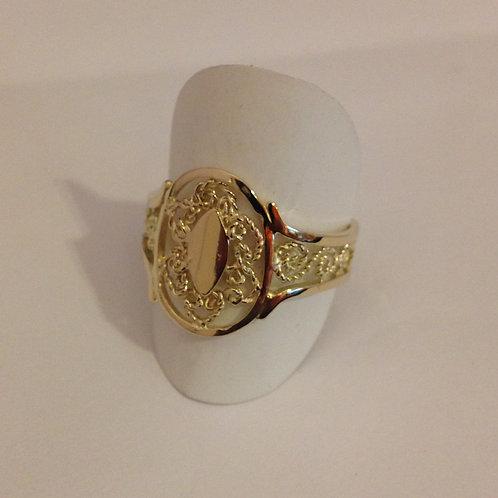 Geel gouden ring van milligrein