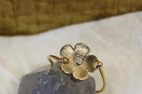 Geel goud met wit gouden ring