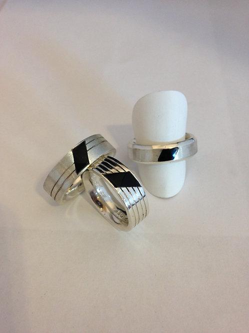 Zilveren ringen met Onix
