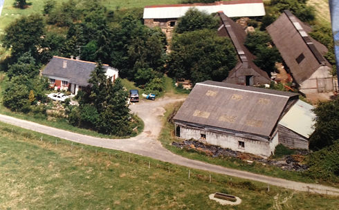 Le Boulay Farm Aerial shot c. 1980