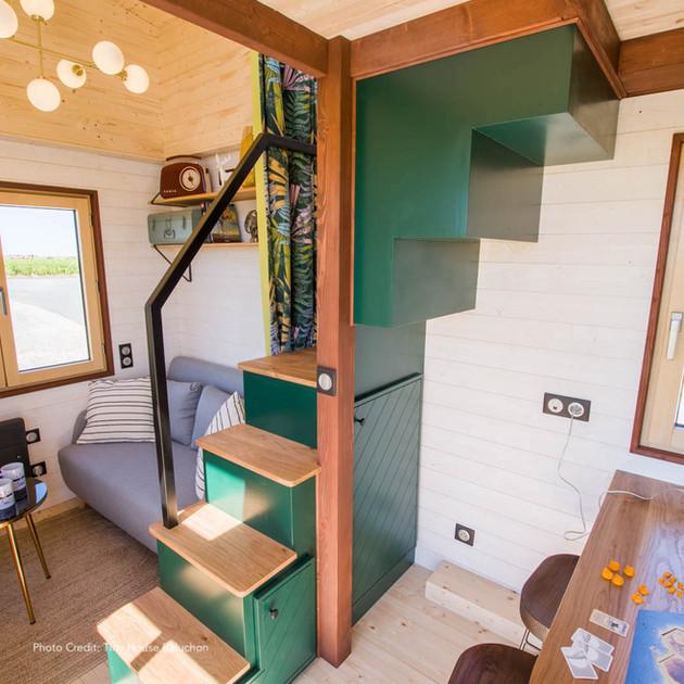 L'escalier et ses rangements
