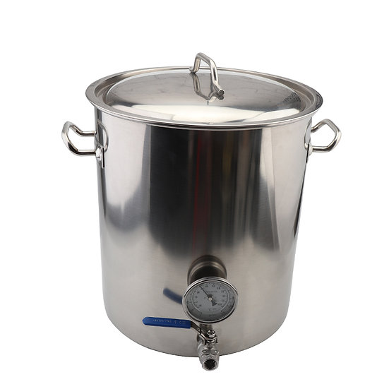 Stainless Steel 40L Brew Kettle With Thermometer And Tap