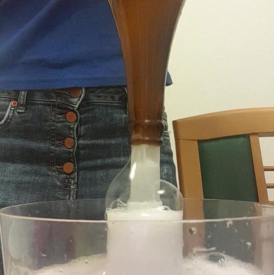Beer bottle sanitizing using StarSan sanitizer