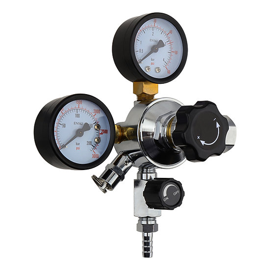 Co2 Gas Regulator CGA - 320 INLET DUAL GAUGE