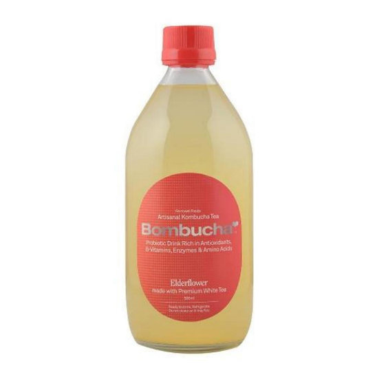 Kombucha-Elderflower in White tea 500ml