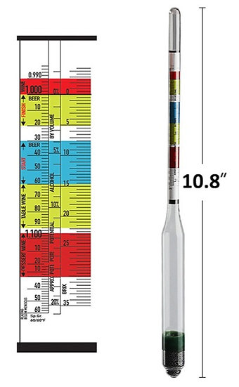 Triple scale Hydrometer