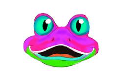 סקיצה למסכה של צפרדע