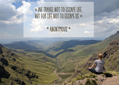 """Does life really """"not escape us"""" by travelling?"""