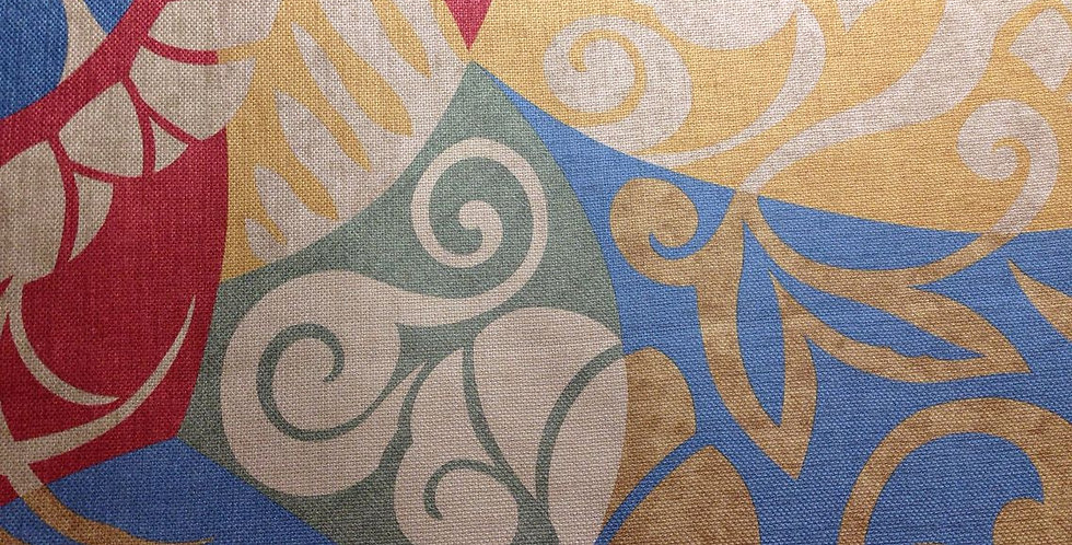 Mosaic Multicolored Upholstery Fabric