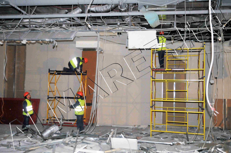 демонтаж подвесных потолков