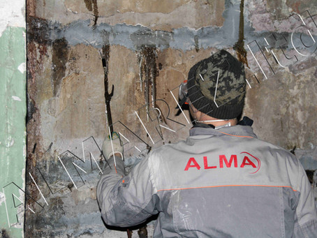 Инъектирование стен подвала