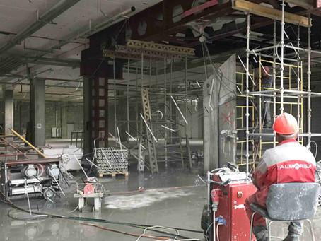 Реновация одного из самых больших ТЦ набирает темп, начинаем более сложные работы демонтаж несущих к