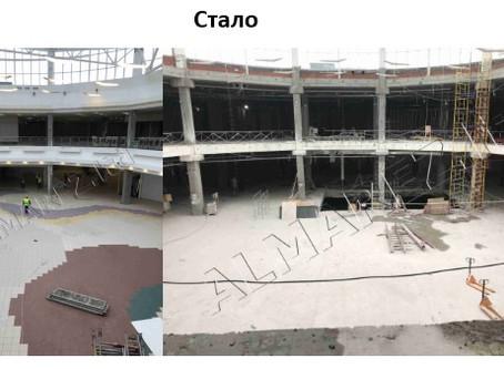 Работы по демонтажу отделки первого этапа общей площадью 25 тысяч кв.м. подходят к завершению