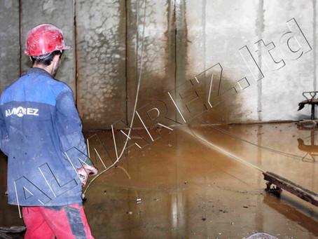 """Демонтируем несущие кирпичные стены методом канатной резки на ТРЦ """"Гудзон"""""""