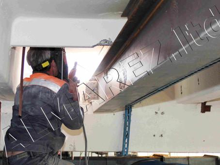 Завершаем работы по усилению плит перекрытий