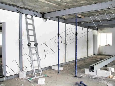 Завершаются работы по металлоусилению стен и перекрытий