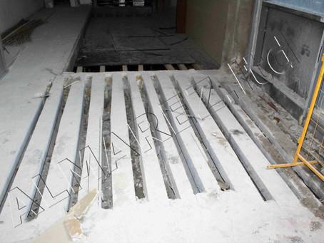 Устройство штробы и металлоусиление пустотных плит