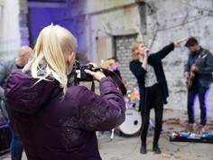 Francis music video shoot