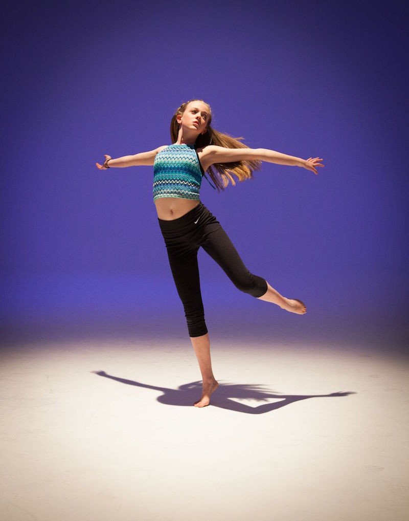 Dancer in a studio
