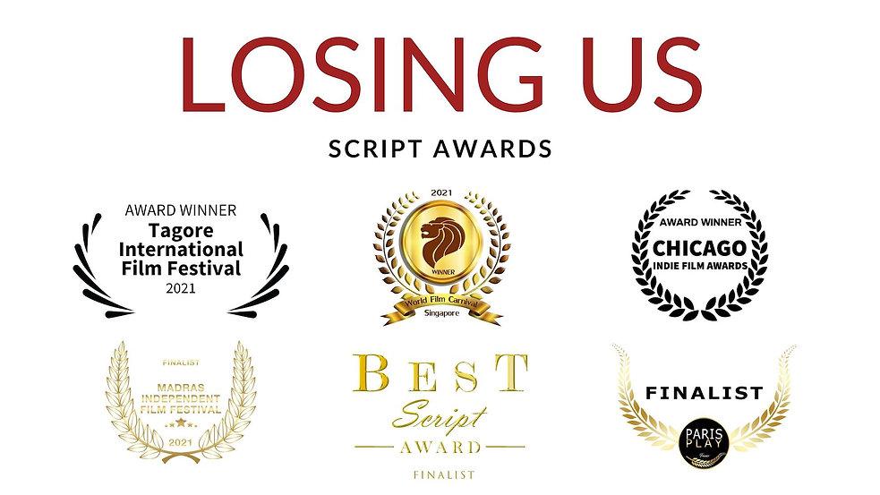 Losing Us script awards.jpg