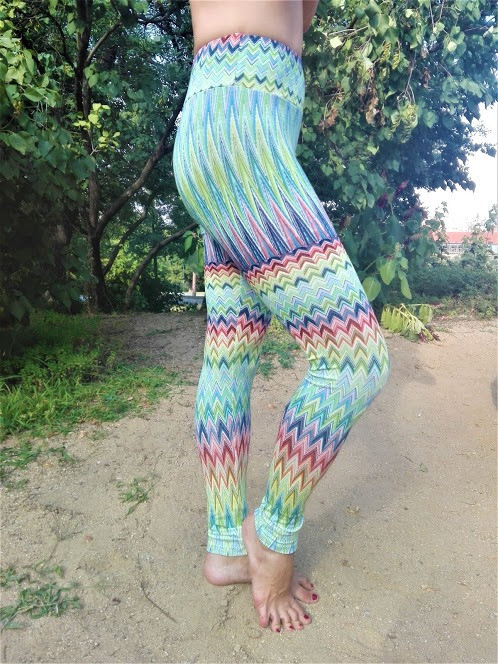 COLOURED LEGGINGS Fabric_ 100% Viscose_L