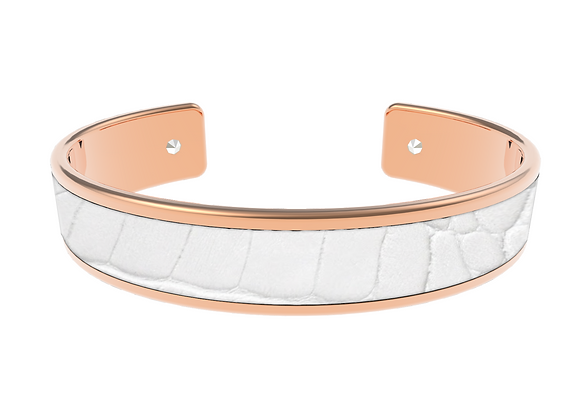 white rose gold croco