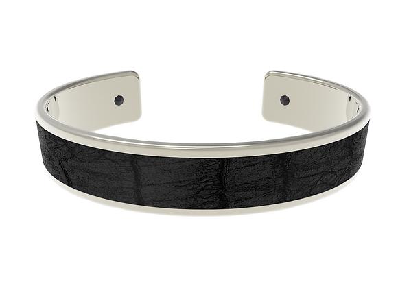 black silver croco