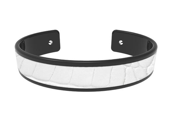 white & black croco
