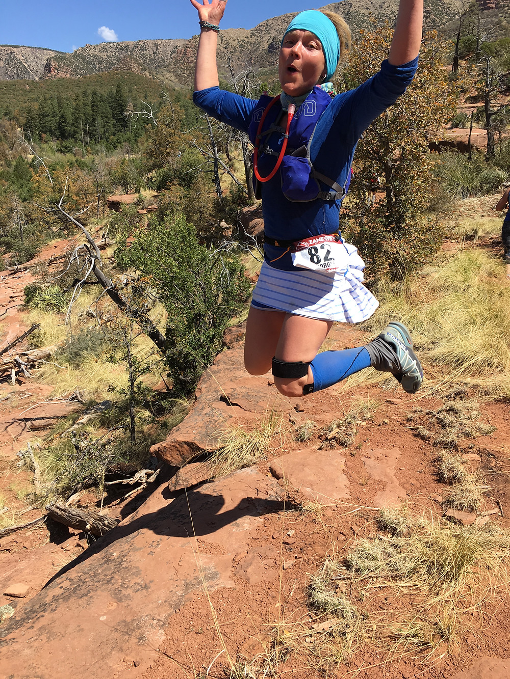 Jumping for joy at the Zane Grey 50m, Phoenix