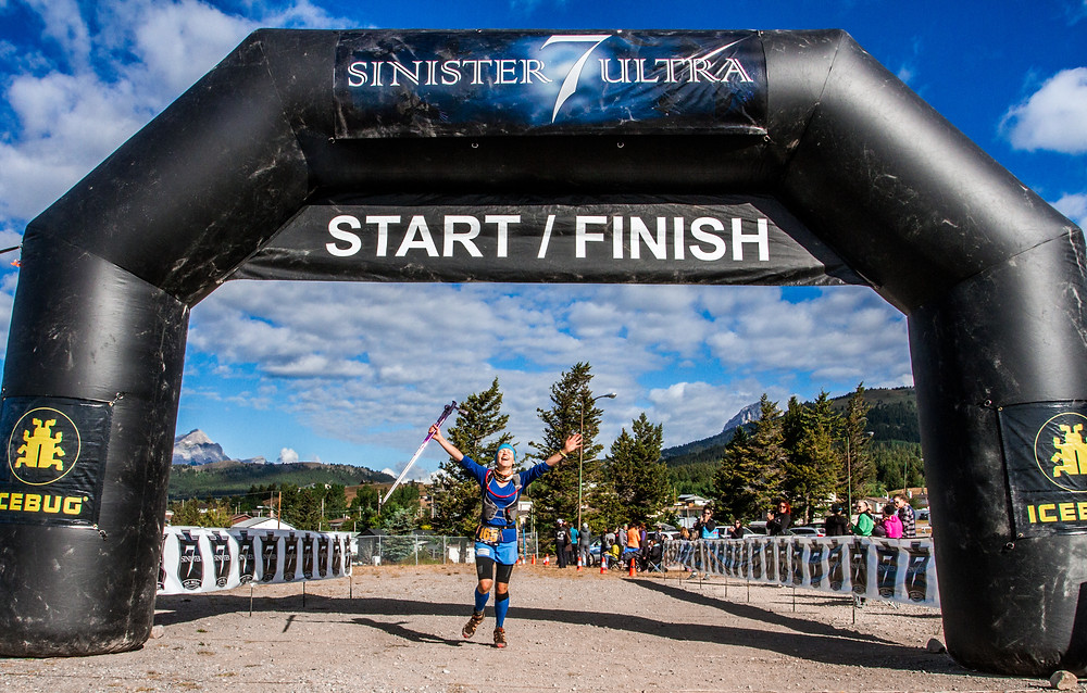 Sinister 7 finish in 2016. 5th pace lady. My face shows it all!