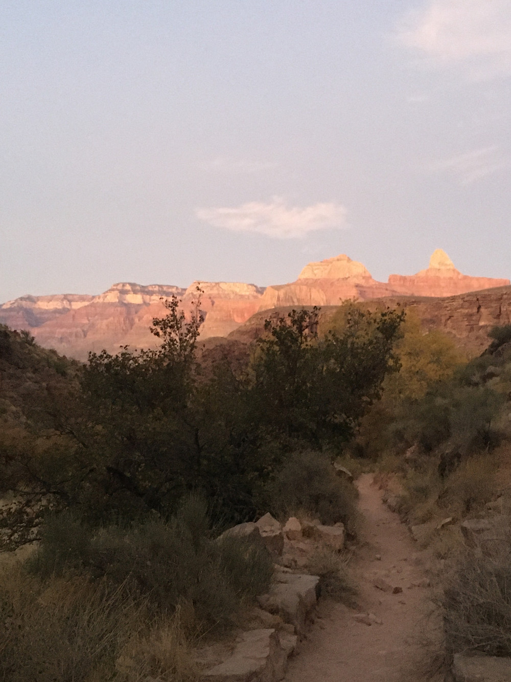 Early morning in the Grand Canyon