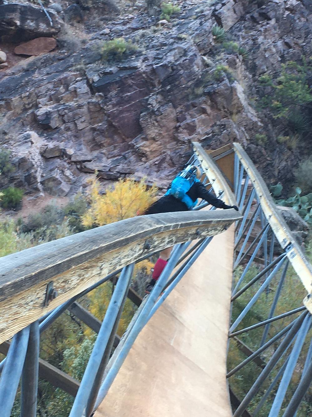 Washed out bridge by Ribbon falls, Arizona