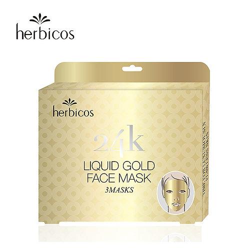Huini Herbicos 24-K Liquid Gold Face Masks  (3pcs)