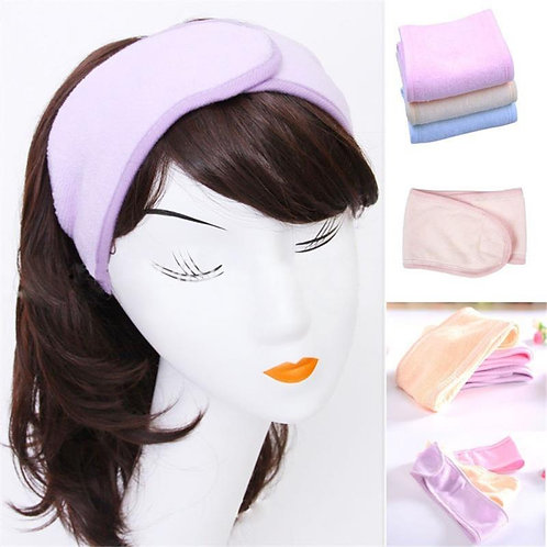 Huini Toweling Headband for Make Up & Facial Salon Spa (Thick Type, 10pcs/ Pck)