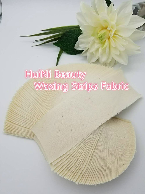 Huini 100 count Natural Muslin Cloth Epilating Waxing Strips 3 X 9 inches