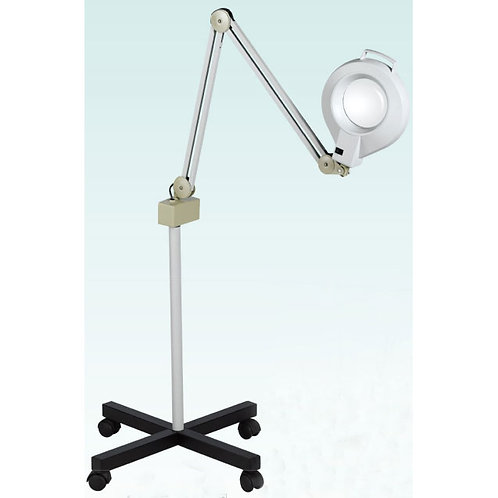 Huini Facial Magnifying Lamp 5 Diopter with Rolling Floor Stand – Adjustable Mag