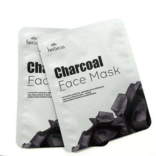 Herbicos Charcoal Facial  Masks (4pcs/25g/0.85oz)