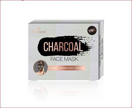 Herbicos Charcoal Peel Off Face Mask ( 3pcs/3.53 oz/100g)