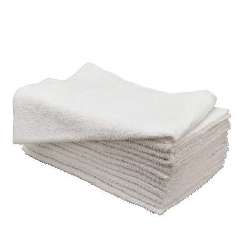 Microfiber Hair Drying Towels 14x30 Inches White/Blue (12pcs/pck)