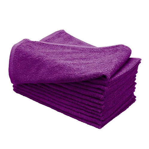 Microfiber Hair Drying Towels 14x30 Inches Purple/White (12pcs/pck)