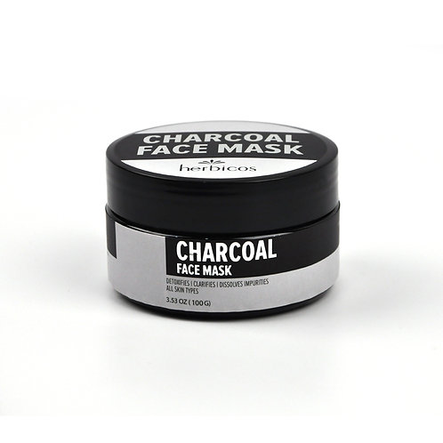 Herbicos Anti-wrinkle Charcoal Mud  Moisturizing Mask (3.53oz/100g)