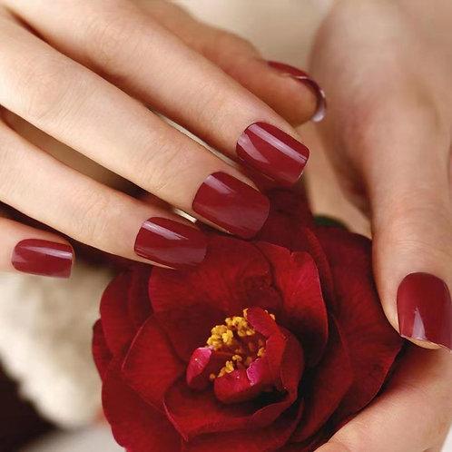 Huini Herbicos Nail Art Set -Burgundy Red (1 Sets, 28pcs)