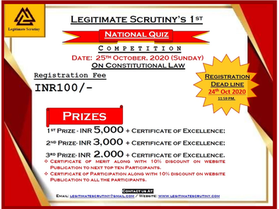 Answers to the questions of Legitimate Scrutiny's National Quiz Competition-01 .